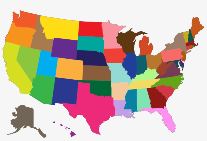 United states clipart color, United states color Transparent.