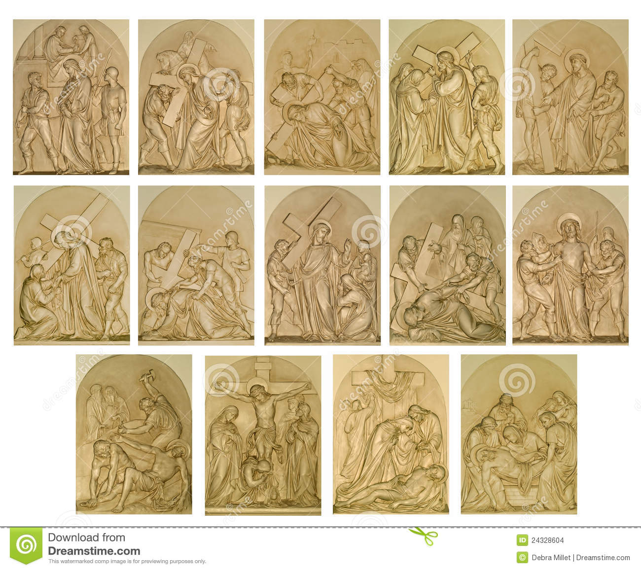 The stations of the cross stock photo. Image of lamb.