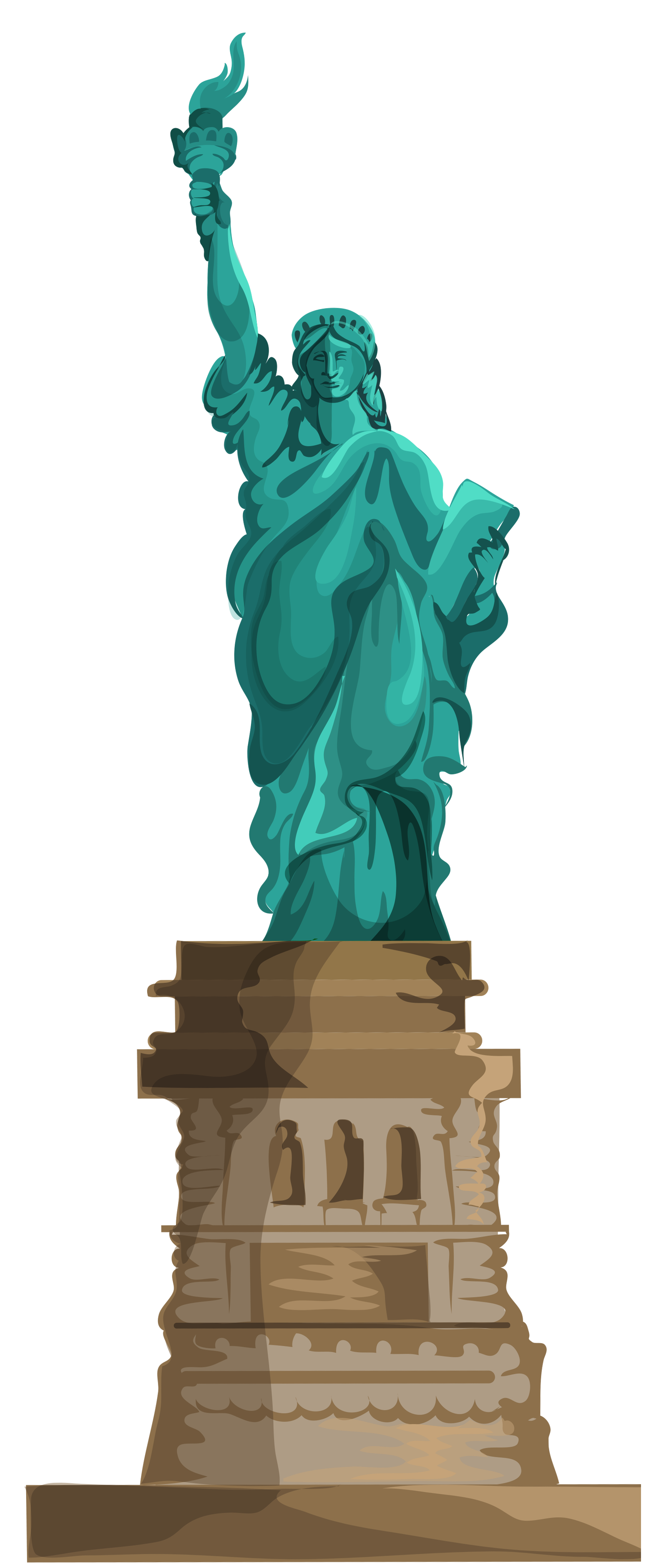 Transparent Statue of Liberty PNG Clipart.