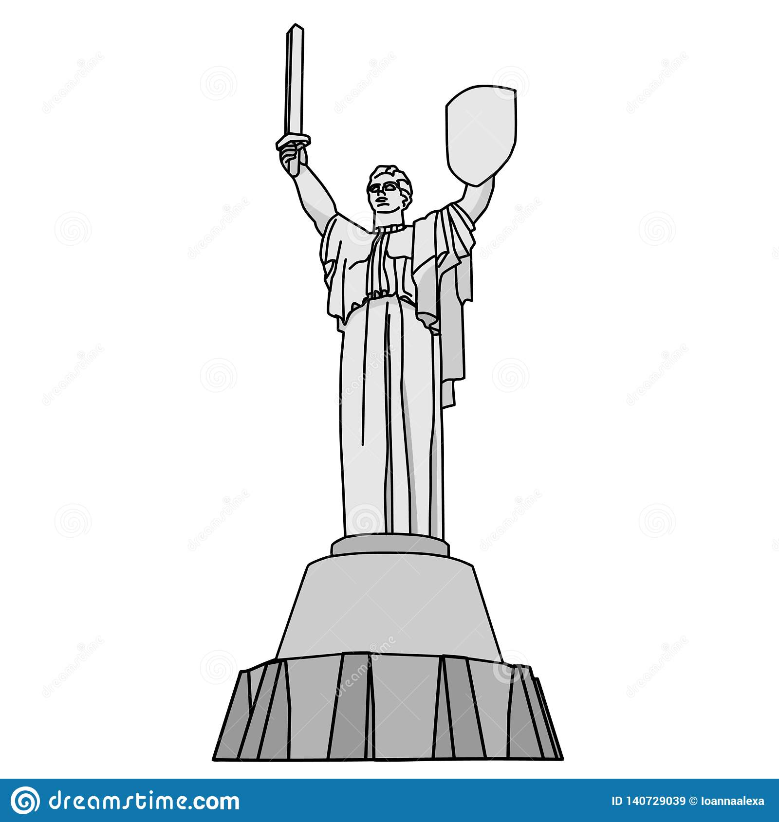 Vector Clipart Of The Motherland Monument Is A Monumental Statue In.