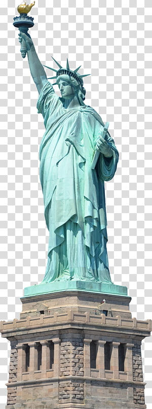 Statue of Liberty transparent background PNG clipart.