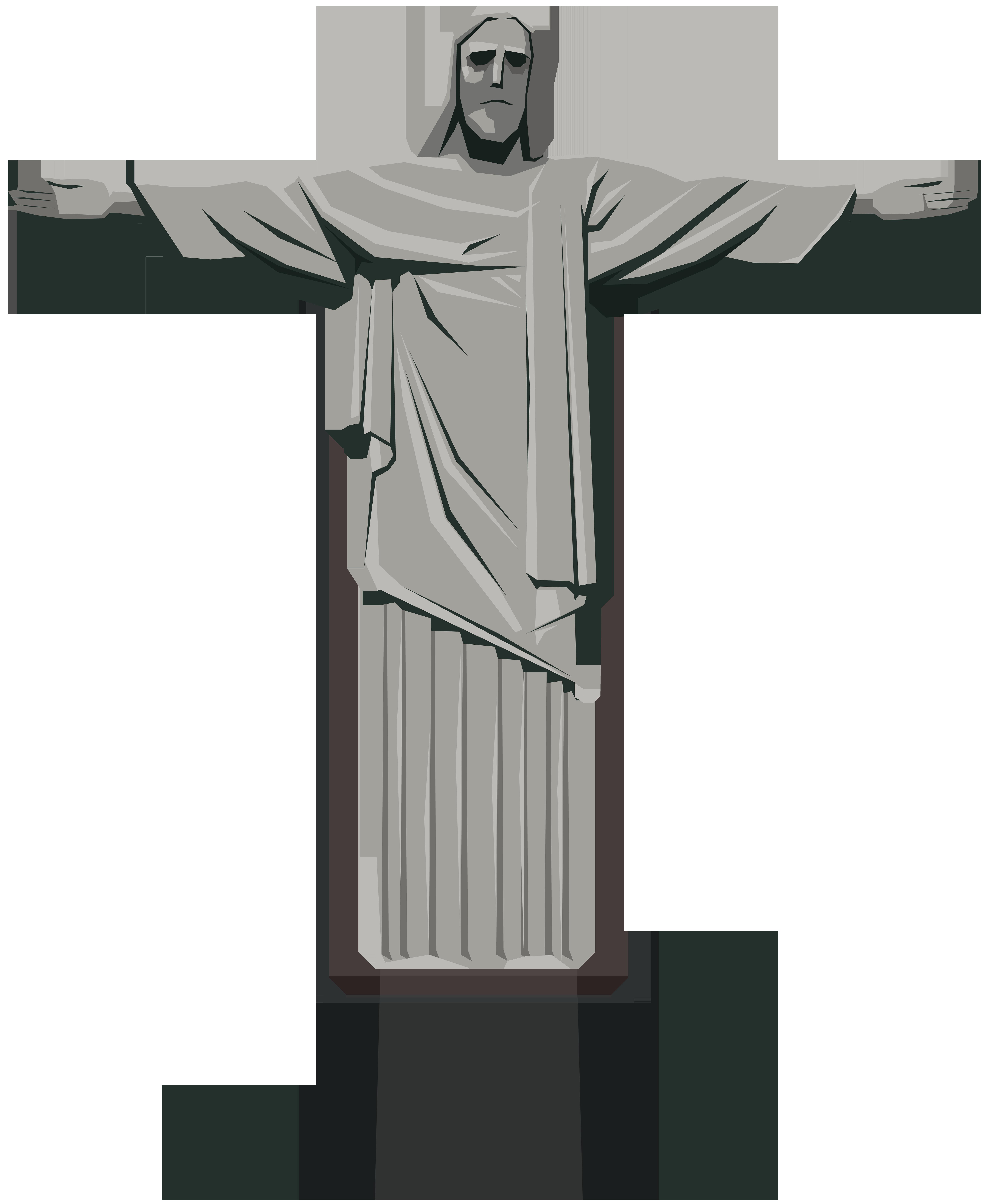 Christ the Redeemer Statue PNG Clip Art.