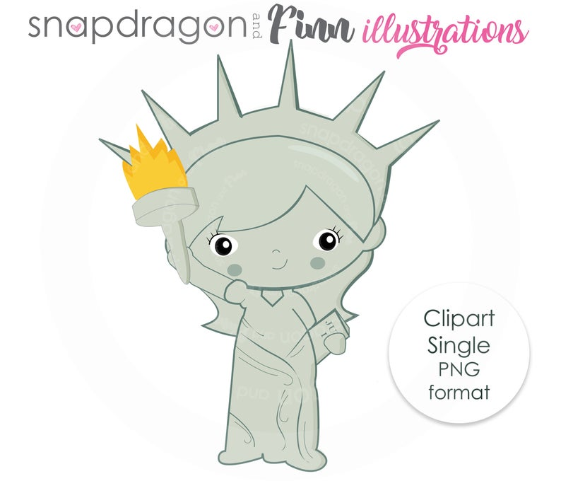 Lady Liberty Clipart, Statue of Liberty Digital clipart, Independence Day  clipart, Patriotic clipart, Commercial License Included.