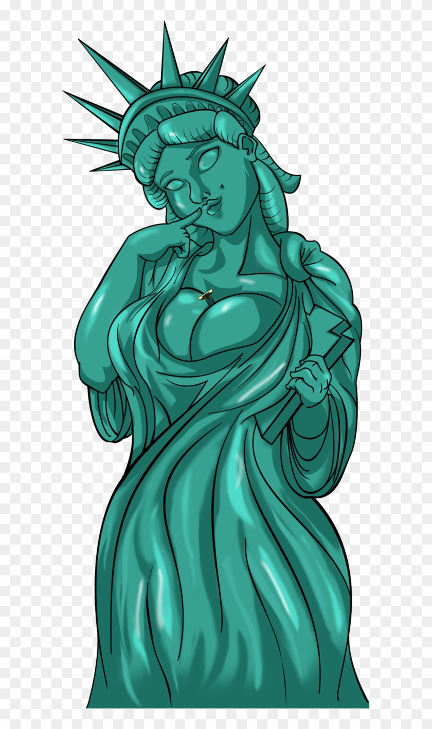 Download Lady Liberty Hot Clipart Statue Of Liberty, HD Png Download.
