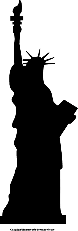 Statue Of Liberty Silhouette Clipart#2130696.