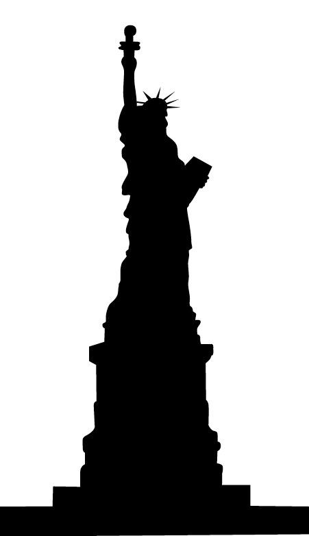 Outline Clipart Statue.