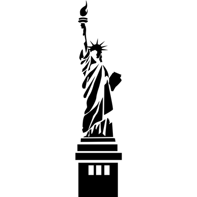 Statue of liberty silhouette clipart kid 2.