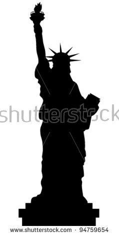 Statue Of Liberty Silhouette Clip Art.