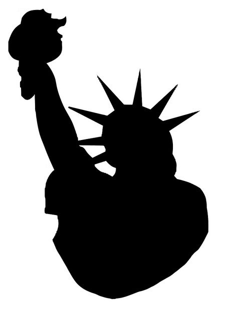 Silhouette Statue Of Liberty Flickr Photo Sharing Clipart.