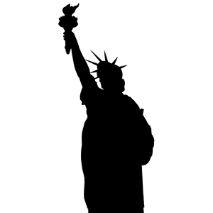 Statue Of Liberty Silhouette clipart, cliparts of Statue Of.
