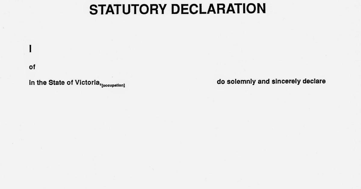 Stat dec wording victoria.