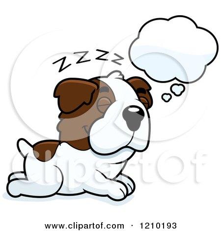 Cartoon of a Sitting St Bernard Dog.