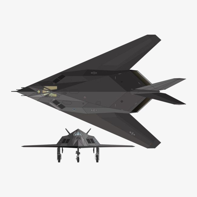 Stealth Aircraft, Fighter, F117a PNG Transparent Clipart.