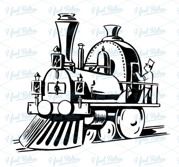 clipart steam locomotive #3