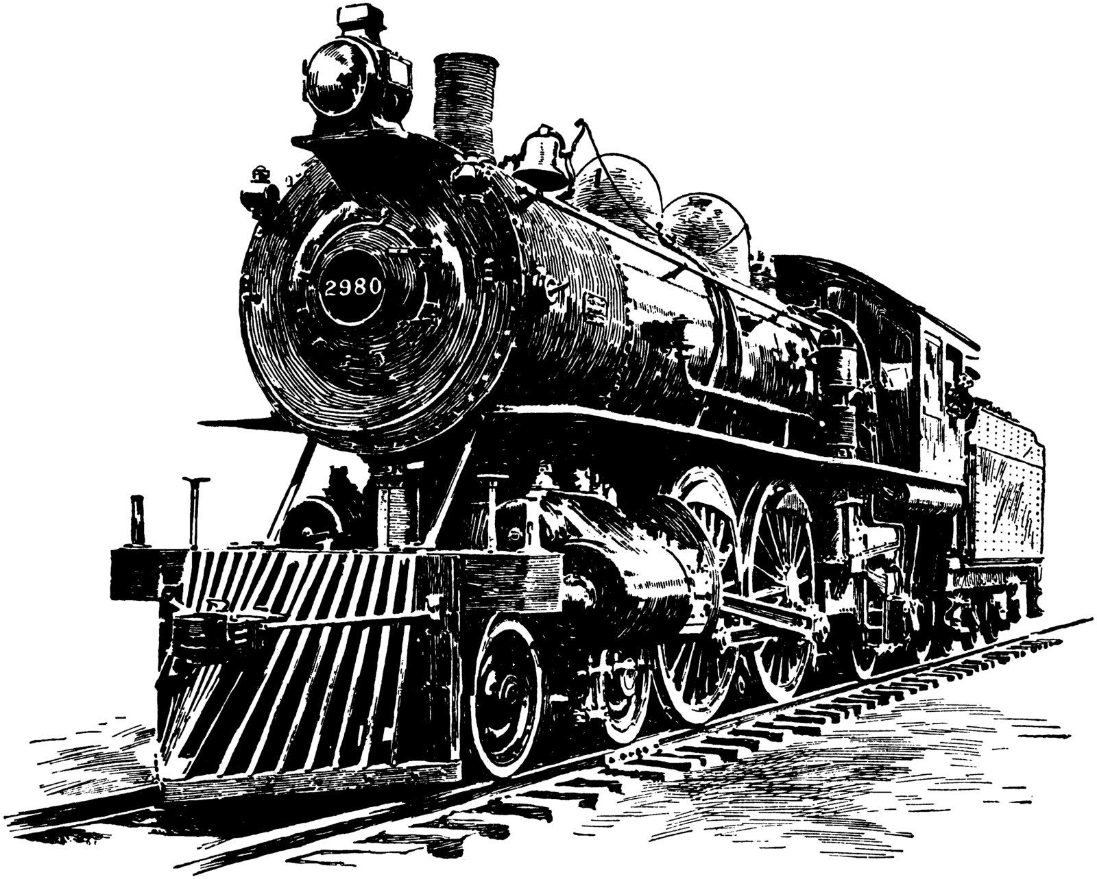 Steampunk steam locomotive line art stock by IHCOYC on DeviantArt.
