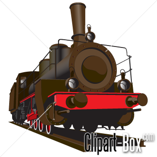 CLIPART STEAM LOCOMOTIVE.