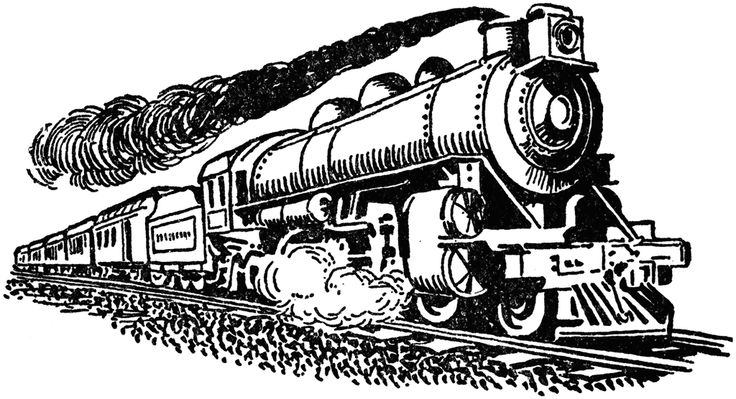 steam train clip art.