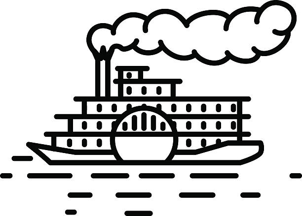 Best Steamboat Illustrations, Royalty.
