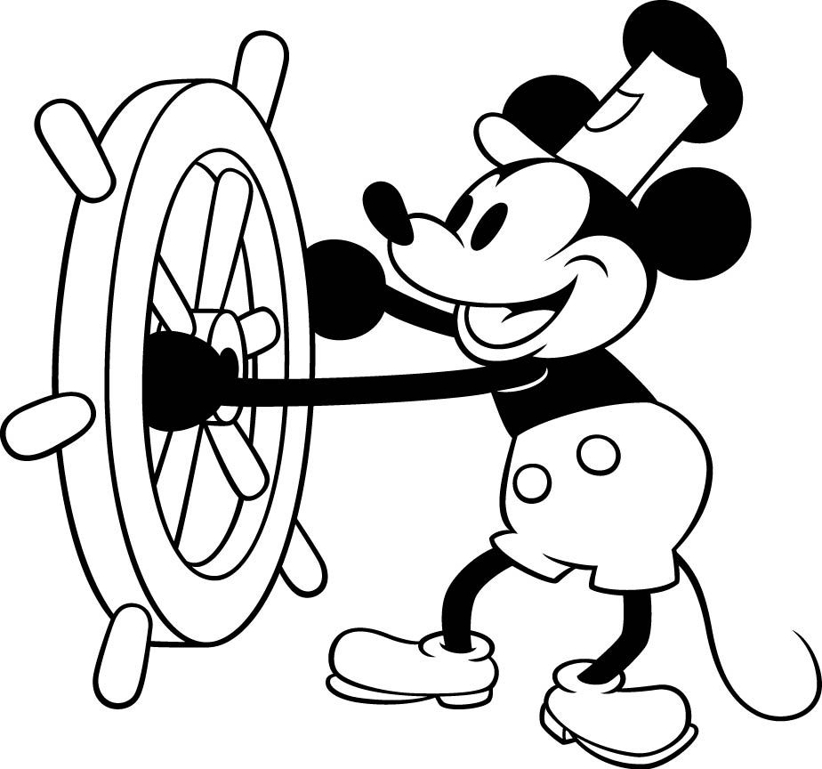 Steamboat Willie Mickey Mouse Clipart.
