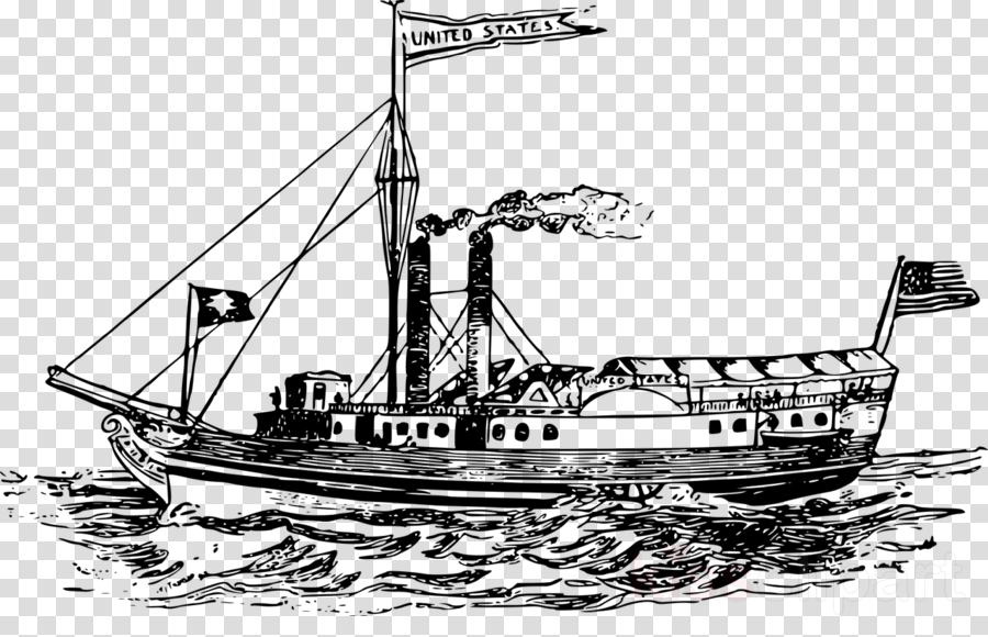 Steamboat, Steamship, Ship, transparent png image & clipart free.
