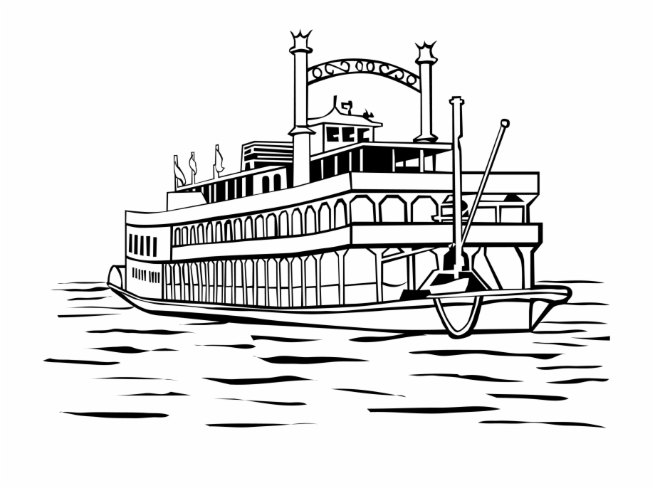 Ferry Clipart Steamboat.