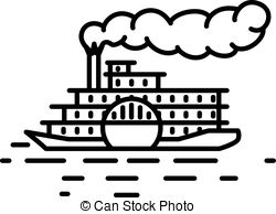 Steamboat Clipart Vector Graphics. 896 Steamboat EPS clip art vector.
