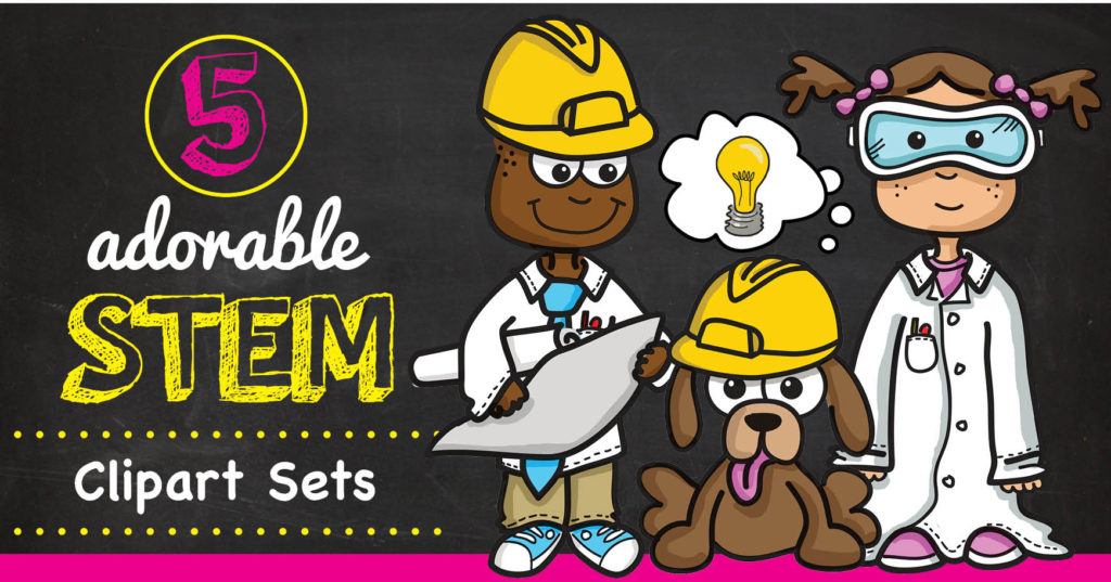 5 Cute and Creative STEM Clipart Sets.
