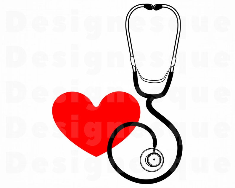 Stethoscope SVG, Stethoscope Heart SVG, Stethoscope Clipart, Stethoscope  Files for Cricut, Cut Files For Silhouette, Dxf, Png, Eps, Vector.
