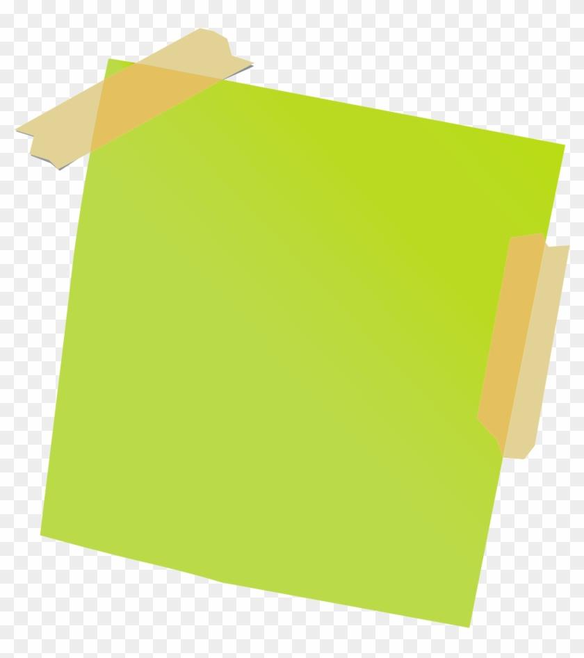 Green Sticky Notes.