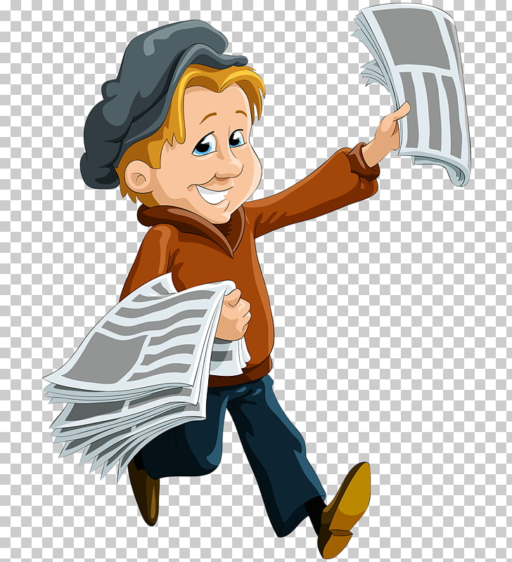 Paperboy Newspaper Stock photography , Children selling.