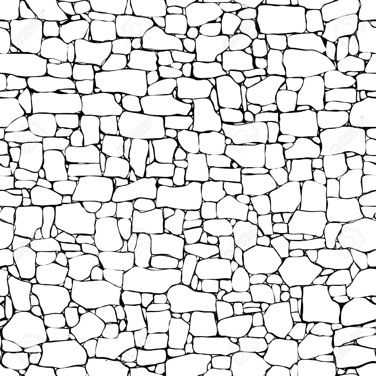 Stone Wall Clipart Black And White.