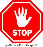 Stop Hand Clip Art.