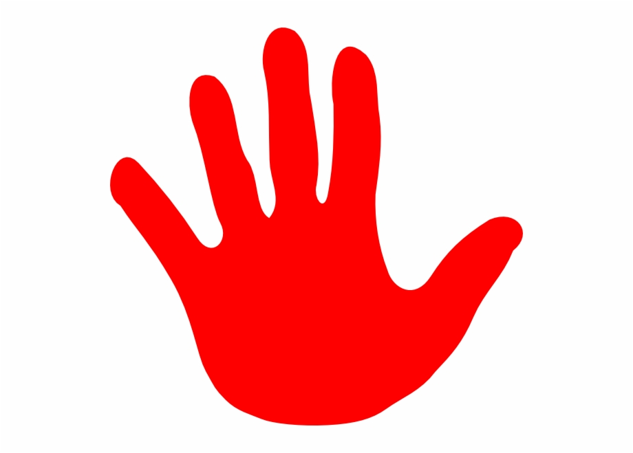 Hand Stop Sign Clipart 2.
