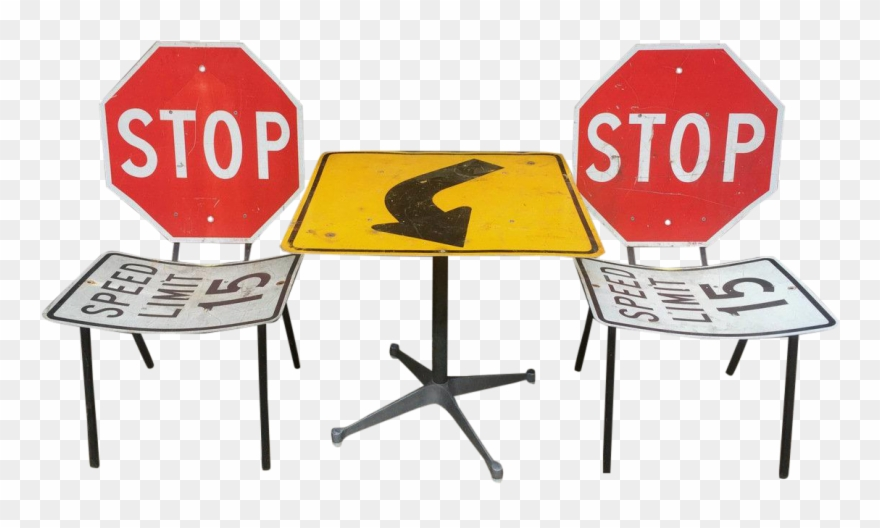 Industrial Road Sign Table.