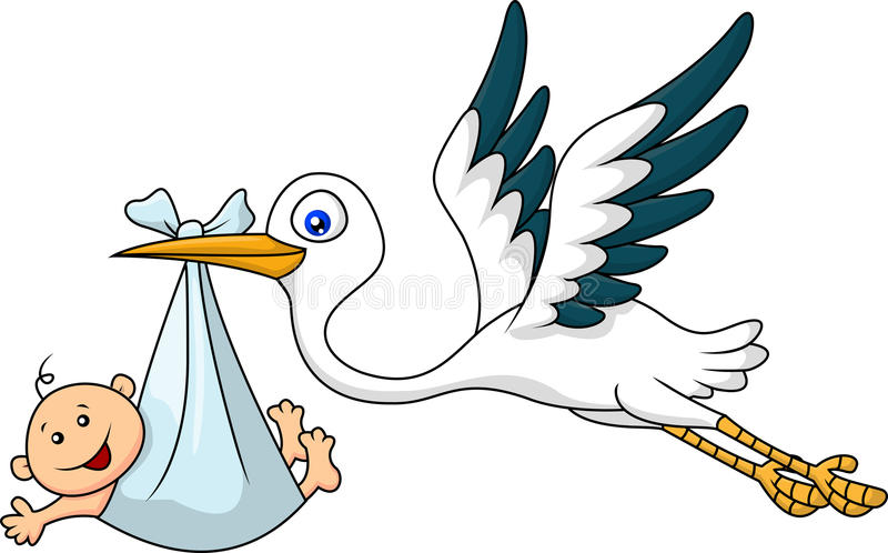 Free clipart stork carrying baby 5 » Clipart Station.