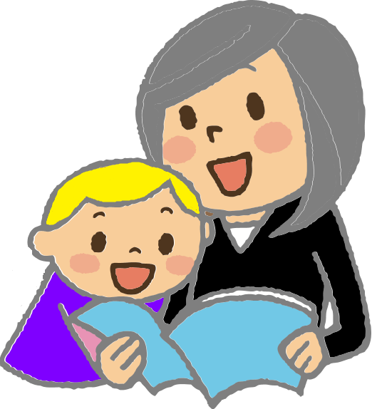 Grandma clipart storytelling, Grandma storytelling.