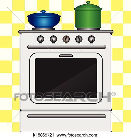 Kitchen stove Clipart.