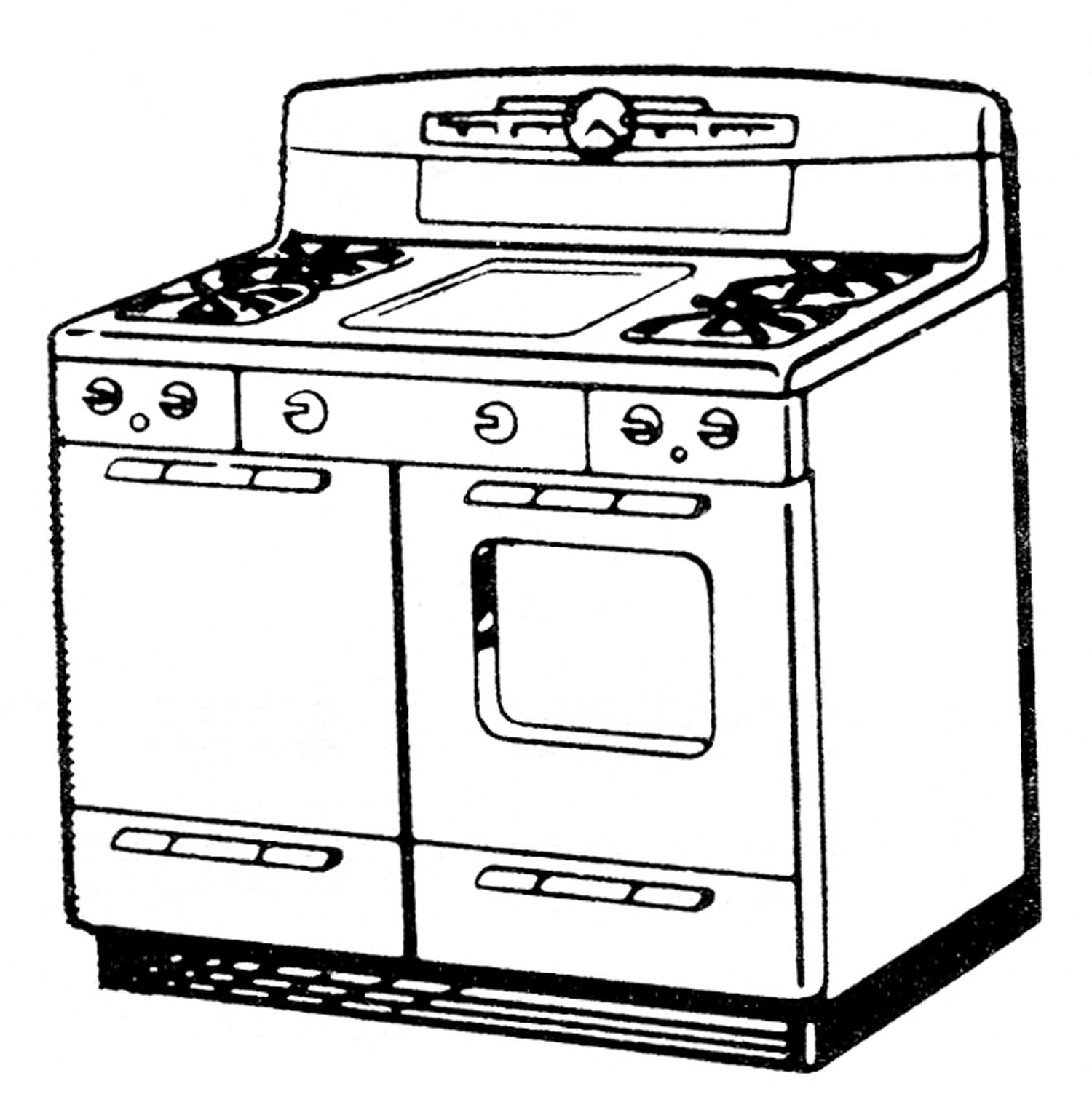 Free clipart stove 1 » Clipart Portal.