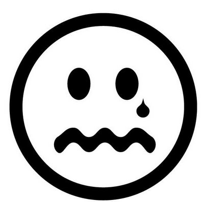 Straight Face Clipart Black And White.