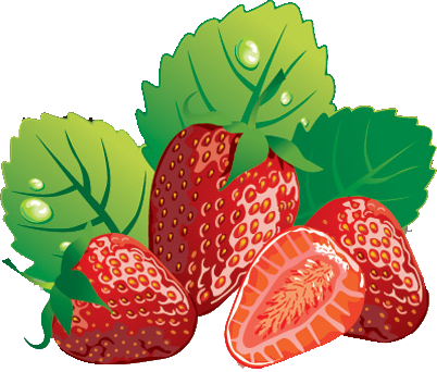 Strawberries Clipart.