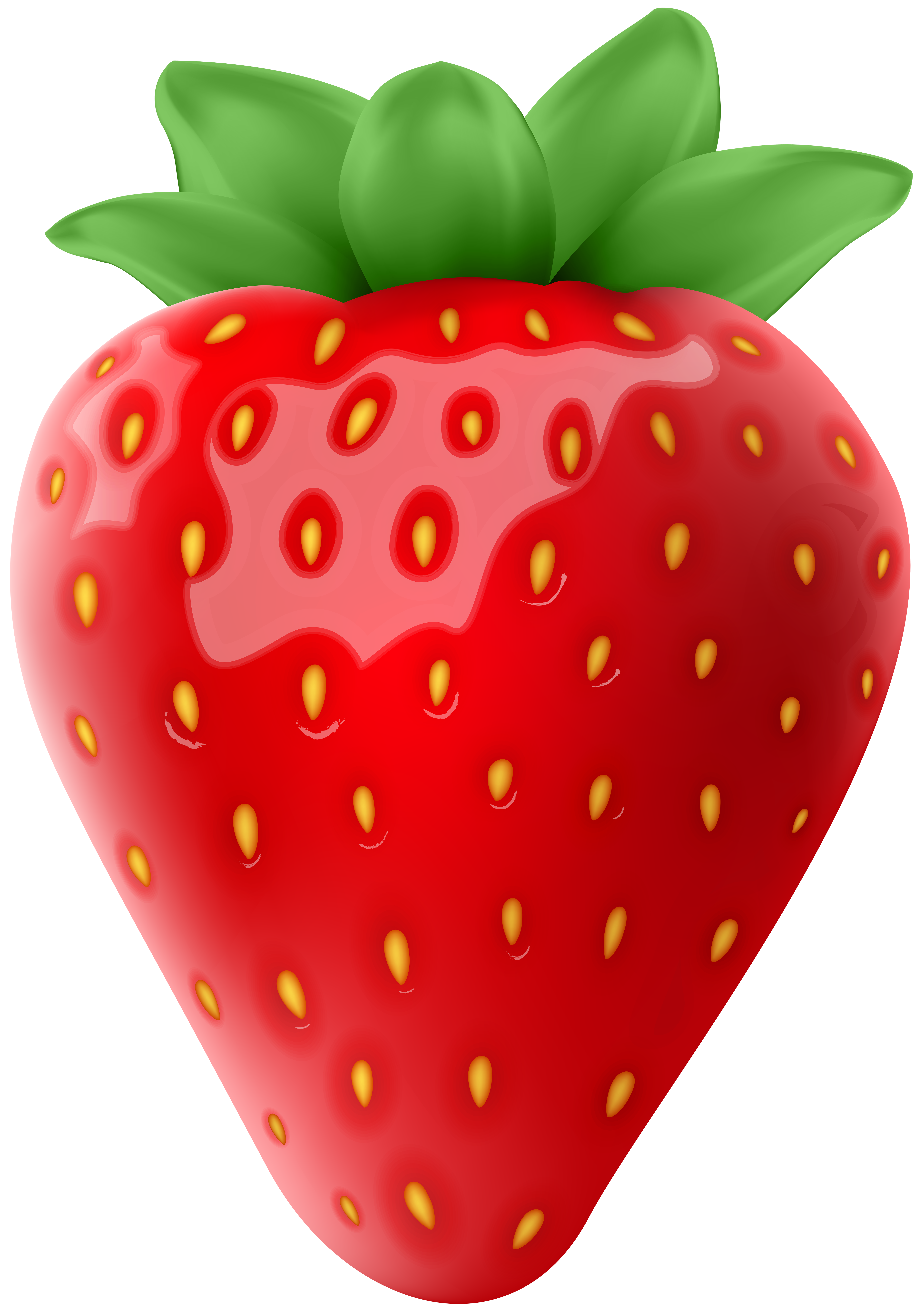 Strawberry Transparent PNG Clip Art Image.
