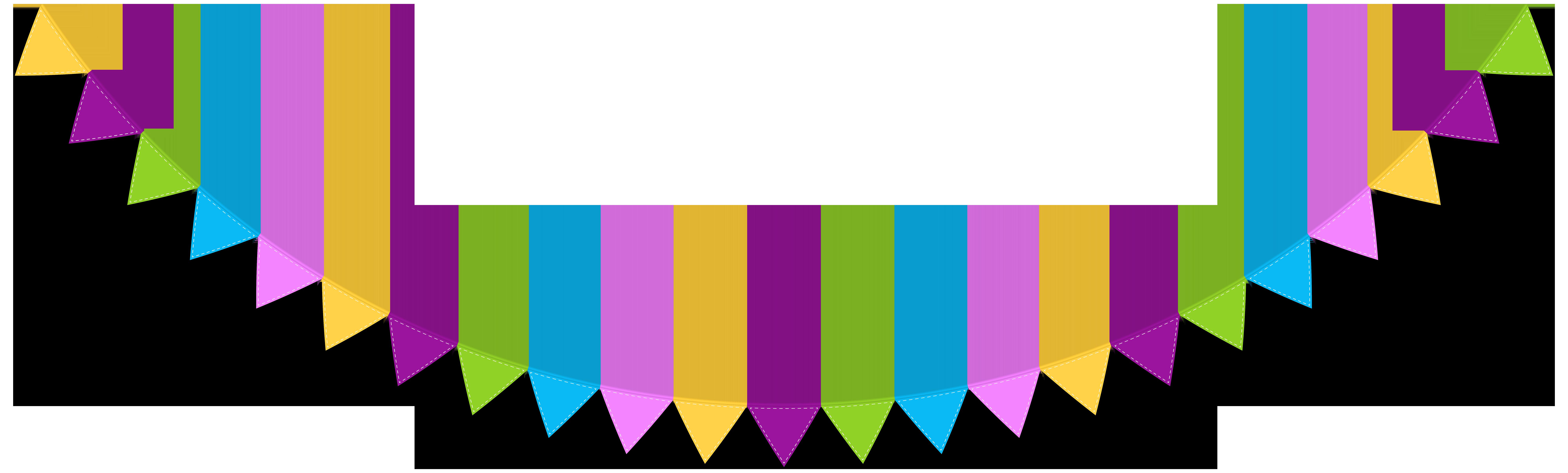 Streamer PNG Clip Art Image.