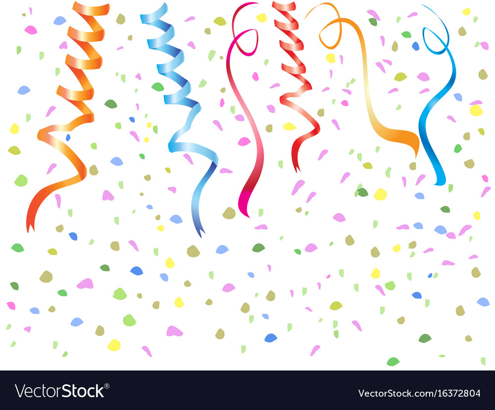 Streamers confetti background.