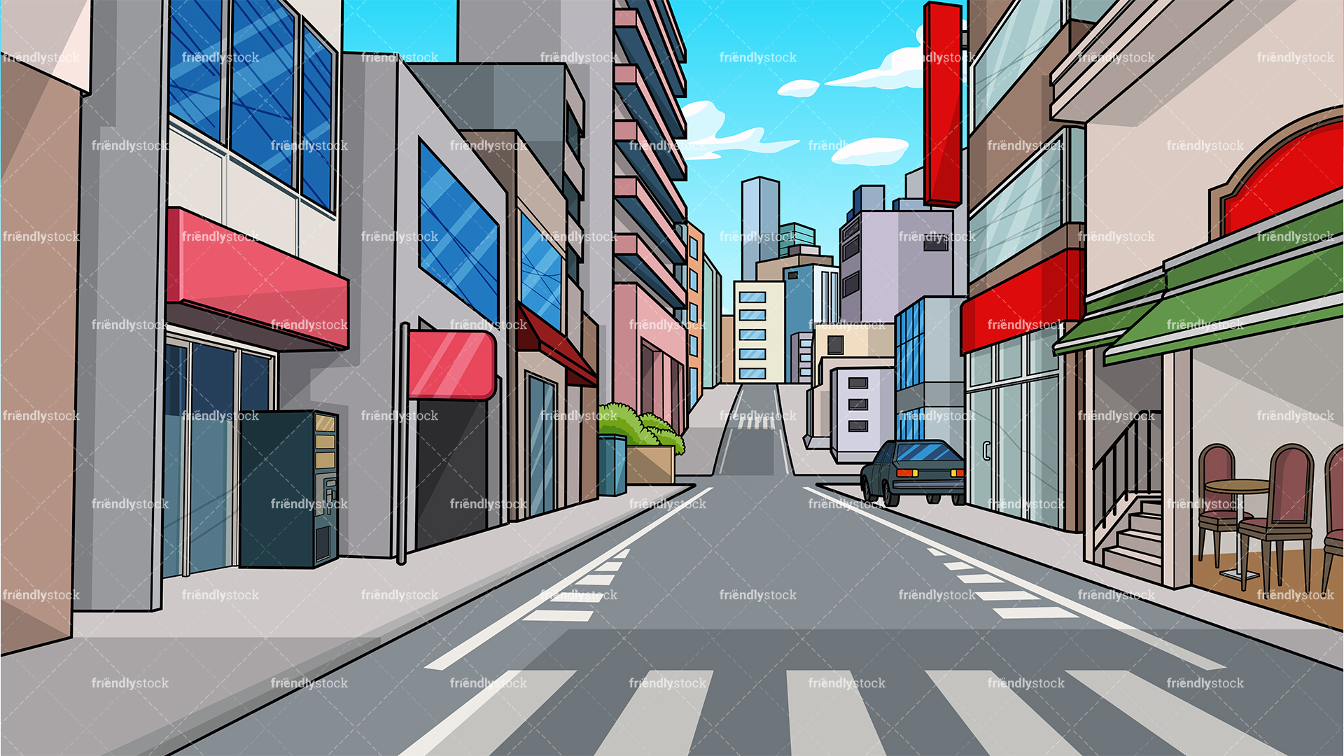 City Street Background.