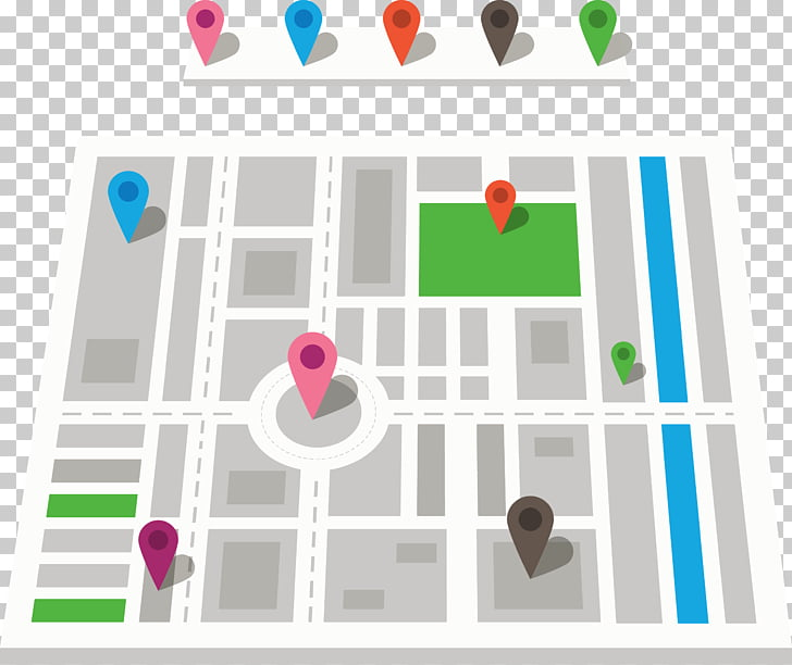 GPS navigation device Map Euclidean Icon, City Street Map.
