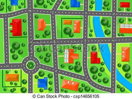 Town Clipart Map.