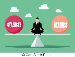 Strength And Weakness Clipart.