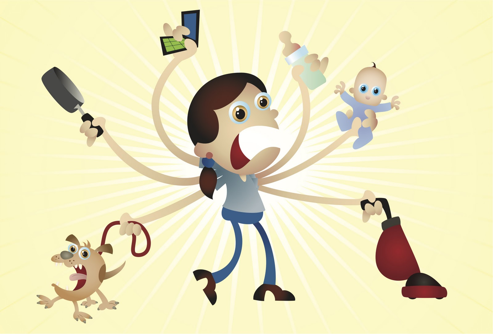 Woman At Work Stressed Out Clipart.