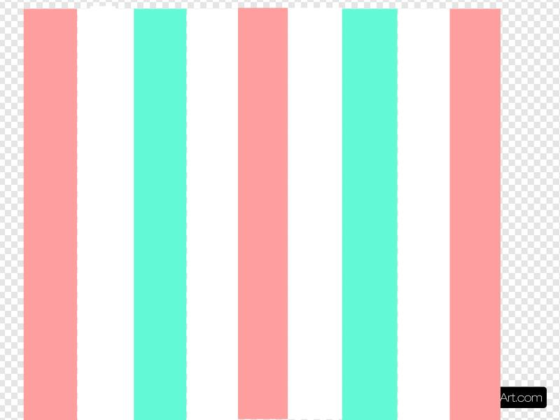 Vertical Coral & Turquoise Stripes Clip art, Icon and SVG.