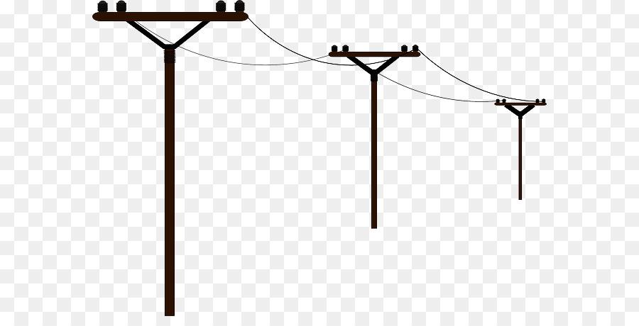 Strommast Strom Overhead power line Clip art.